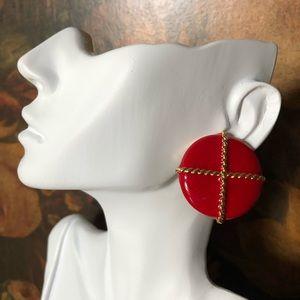 🔥 Vintage Napier Gold Tone Enamel Earrings